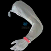 Stainless steel arm sleeve with full hand glove and Y adjustable Band