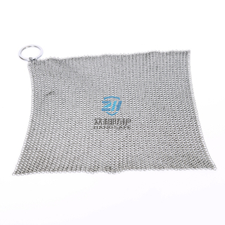 Stainless Steel Ring Mesh Chain Mail Scrubber