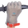 Rubber Strap Five Finger Ring Mesh Stainless Steel Chainmail Gloves
